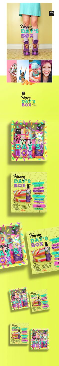 Happy Day's Box N°21• Identity and Package Design on Behance by Carmelita Design Porto Allegro, Brazil. Oooh send me one : ) PD