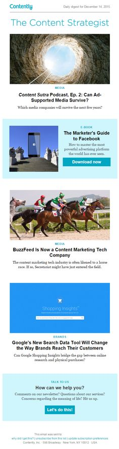 Contently Newsletter 2016