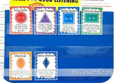 Teaching shapes to kindergarten is part of many standards based curriculums. I wanted to share creative ways for teaching shapes in kindergarten. Preschool Songs, Preschool Learning, Kindergarten Classroom, Math Activities, Maths Fun, Preschool Lessons, Preschool Ideas, Preschool Crafts, Craft Ideas
