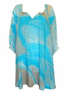 BOHO AQUA PRINT TUNIC TOP - $50 boutiq.com.au Cover Up, Tunic Tops, Boho, Dresses, Fashion, Vestidos, Moda, Fashion Styles, Bohemian