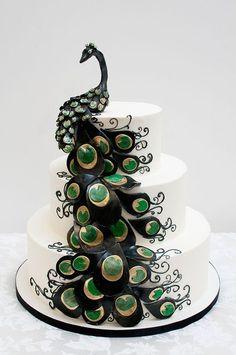 Peacock Wedding Cakes