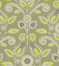Home Decor Print Fabric-Waverly Shine On Sterling   17.99