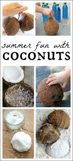 10 amazing preschool summer activities to try using coconuts!