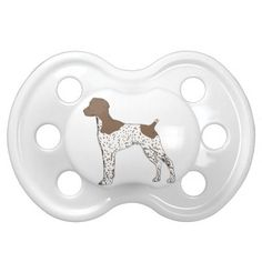 german shorthaired pointer color silhouette pacifier
