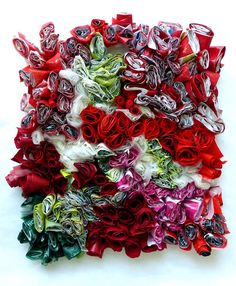 15 plastic bags, sewn together with gestures of joy