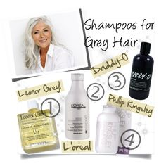 Shampoos for Grey Hair by clotheshawg on Polyvore featuring beauty, Philip Kingsley, L'Oréal Paris and ADAM