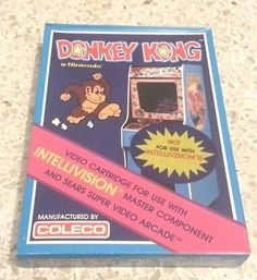New-Donkey-Kong-Video-Game-for-Intellivision-Made-by-Coleco-Sealed #gaming #gamer #coleco #arcade #oldschool