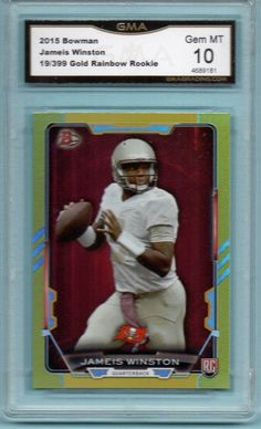 Jameis Winston 2015 Bowman Gold Foil Rookie SP 19/399 GMA 10 GEM MT Buccaneers  | Sports Mem, Cards & Fan Shop, Sports Trading Cards, Football Cards | eBay!