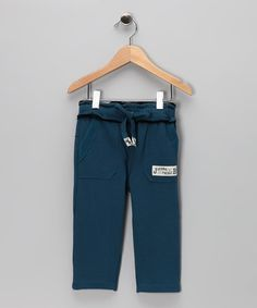 Take a look at this Blue Fleece Pants - Infant, Toddler & Boys by JB Original Vintage on #zulily today!