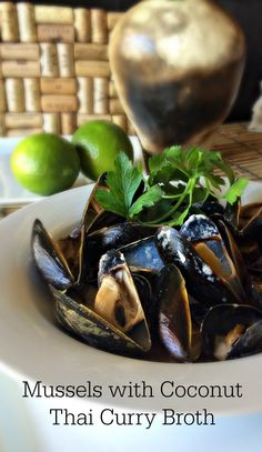 Mussels in Creamy Fennel Tomato Broth | Mussels, Fennel and Tomatoes