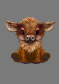 Art by Nafantano, on Etsy - Niedliche Tiere Malen - Cute Fantasy Creatures, Cute Creatures, Anime Animals, Funny Animals, Farm Animals, Cute Cartoon Animals, Photo Panda, Cute Animal Drawings, Drawing Animals