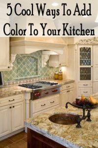 5 Cool ways to add color to your kitchen Kitchen Redo, Kitchen Dining, Kitchen Remodel, Kitchen And Bath, Kitchen Cleaning, Kitchen Ideas, Home Design Decor, House Design, Design Ideas