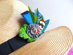Fedora embellishment by Gwendolyne Hats, via Flickr