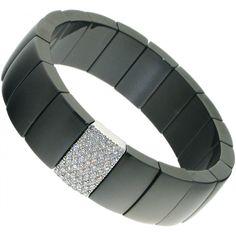 Domino Black Ceramic Bracelet
