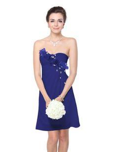 HE03597SB06, Sapphire Blue, 4US, Ever Pretty Dress For Juniors Knee Length 03597