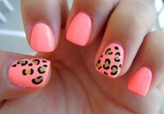 Neon Cheetah Manicure