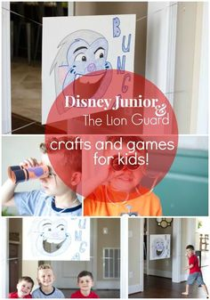 DIY Animal Finders and a fun ball toss game for toddlers inspired by Disney Junior's The Lion Guard AD