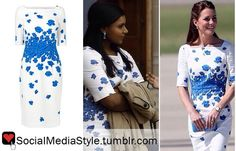 Mindy Kaling vs Kate Middleton's Blue Flower Dress: Who Wore it Better?   Buy their dress, here!