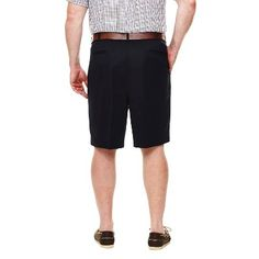 Haggar H26 - Men's Big & Tall Classic Fit Performance Shorts Navy (Blue) 56, Size: 54
