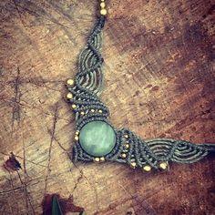 magische afrikanischer Opal Makramee Halskette von ArtOfGoddess