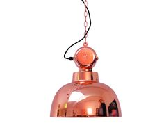 Hanglamp Factory in koperkleur van € 249,= voor € 179,=