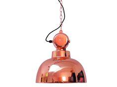 Hanglamp Factory in koperkleur€ 249,=, nu met 15% korting!