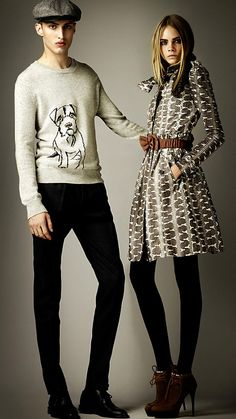 Burberry Intarsia Terrier Cashmere Sweater from the Burberry Prorsum F/W 2012 Pre collection