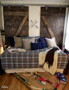 barn wood back to daybed