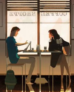 Pascal Campion「Coffee Sketching」