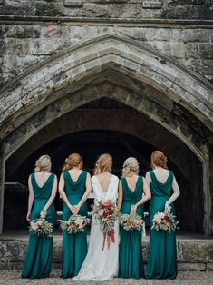 Glasshouse Wedding At Crom Castle With Bride In Halfpenny London Bridesmaids In Forest Green Silk Dresses By Ghost Images From Salt & Sea Photography Co. Gorgeous emerald green satin cowl back bridesmaid maxi dress from Ghost Forest Green Bridesmaid Dresses, Emerald Bridesmaid Dresses, Wedding Dresses, Bridesmaids, Ghost Bridesmaid Dress, Emerald Green Weddings, London Bride, Fall Wedding Colors, Wedding Photos