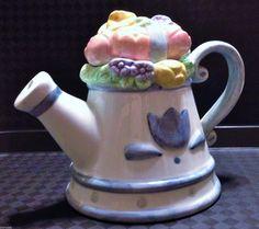 """May"" Cranbury Square Teapot"