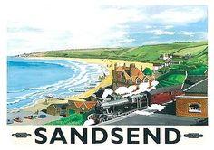 YORKSHIRE - Sandsend, North #Yorkshire #Railway Poster