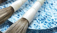 Blue Dinnerware, Blue Hour, Rolling Pin, Rolls, Tableware, Shop, Shopping, Style, White Wash Table