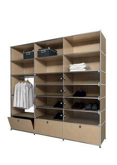 USM modular furniture wardrobe beige meuble USM Haller dressing beige