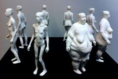 "Ted Lawson's Existential Human Body Sculptures ""Beautiful Decay"""