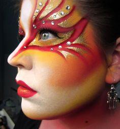 Cool Halloween Makeup in Motives Eye Shadow(Rock Candy & Gold Rush)!   #Halloween #Candy #Gold