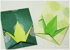 Gift wrapping available on holidays .. origami crane in origami - gift bag along with a letter ...: Naver Blog