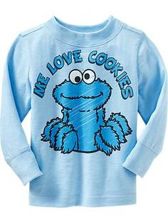 Wyatt: Sesame Street® Cookie Monster Tees for Baby | Old Navy