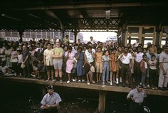 The RFK funeral train site, June 8, 1968 by Paul Fusco