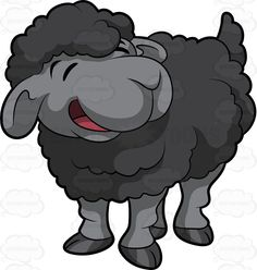 Great free clipart, png, silhouette, coloring pages and drawings that you can use everywhere. Sheep Cartoon, Cartoon Art, Stock Art, Black Sheep Tattoo, Sheep Drawing, Sheep Vector, Clip Art, Stock Image, Happy Art