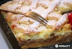 Rácsos-habos almás pite | NOSALTY Apple Desserts, Fall Desserts, No Bake Desserts, Hungarian Desserts, Hungarian Recipes, Baking Recipes, Cake Recipes, Dessert Recipes, Eat Seasonal