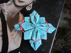 """This lovely hair ornament is made from cotton fabric and features a 2"""" french barrette.  Like the product but not the colors? We're happy to make custom orders!"""