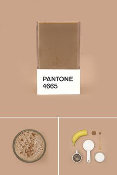 hedvig a kushner has created 'pantone smoothies', a series of coded juices that correlate to the palette matching system.