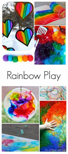 36 Beautiful and Engaging Rainbow Activities for all ages:  Babies, Toddlers, Preschoolers and even Older Kids!  From Fun at Home with Kids