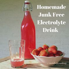 Homemade Electrolyte Drink free of artificial flavors and colors and all the junk in whole