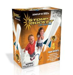 Stomp Rocket Jr The Stop Rocket Junior is an inexpensive outdoor toy that my kids love! This is the junior edition, so its made for kids ages 3 & up. The Stomp Rocket Jr. glow Kit is the perfect [. Stomp Rocket, Rocket Power, Gifts For Boys, Toys For Boys, Kids Toys, Toddler Toys, Kids Presents, Fun Gifts, Party Gifts