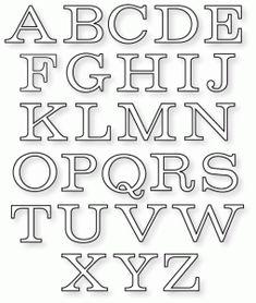 Papertrey Ink - Bookprint Alphabet Upper Die