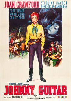 """Nicolas Ray's """"Johnny Guitar"""" Italian Movie Poster"""