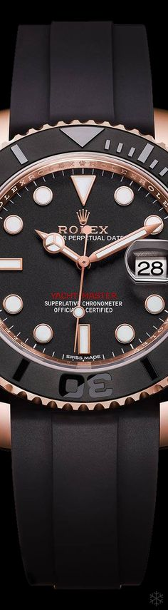 2015 Rolex Yacht-Master 116655 Watch In Everose Gold With Black Ceramic Bezel!