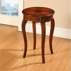 Beacon Hill Round Accent Table in Brown by Accent Treasures. $207.10. Accent Tables @ Efurnitureshowroom.com. 5002 Features: -Material: Solid wood and MDF.-Fashionably styled. Color/Finish: -Shaped leg accent table is expertly finished in rich brown with hand painted detail. Assembly Instructions: -Assembly required.